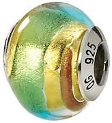 Murano Prerogatives Sterling Gold & Green Italian Glass Bead