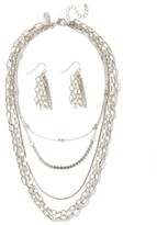 Charming charlie Zuza Chain Necklace Set