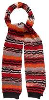 Missoni Abstract Patterned Wool Scarf