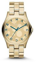 Marc by Marc Jacobs Henry Dot Blue Gold Tone Womens Watch MBM3267