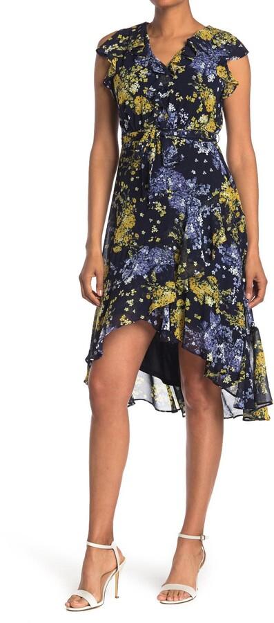 Taylor Printed V-Neck Midi Dress