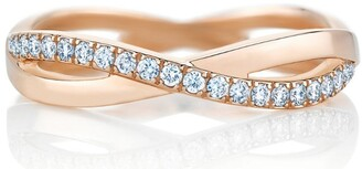 De Beers Rose Gold and Diamond Infinity Band