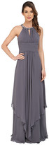 Donna Morgan Siena Beaded Halter Long Gown Dress
