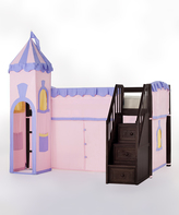 Chocolate Princess Loft Bed with Stairs