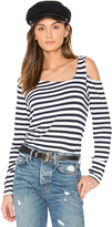 Feel The Piece Riri Stripe Top in Navy & White in Navy