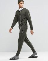 Asos Loungewear Skinny Joggers In Khaki