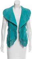 Yigal Azrouel Suede Fringe Vest w/ Tags
