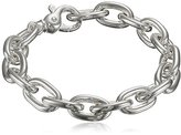 "Zina Sterling Silver Men's Link Bracelet, 8.5"""