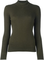 Courreges ribbed jumper - women - Cotton/Cashmere - 2