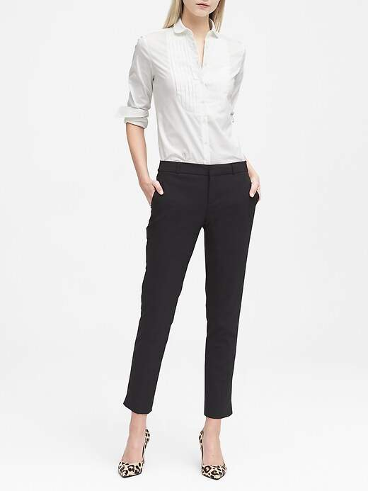 Banana Republic Avery Straight-Fit Lightweight Wool Ankle Pant