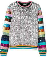 Mary Katrantzou Magpie Sequined Jersey Sweater - Silver