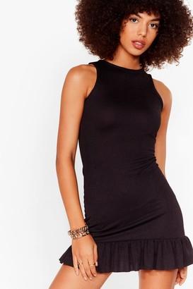 Nasty Gal Womens Racer Flippy Hem Mini Dress - Black - 4, Black