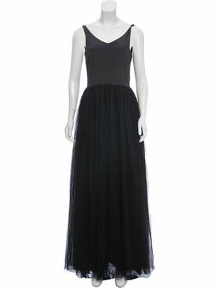 Brunello Cucinelli Silk Mesh Gown w/ Tags black