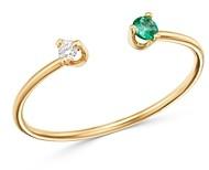 Zoë Chicco 14K Yellow Gold Emerald & Diamond Open Ring