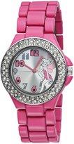Disney Women's Tinkerbell Dial Fuschia Enamel Bracelet Watch TK2028