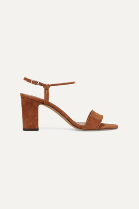 Tabitha Simmons Bungee Suede Sandals - Tan