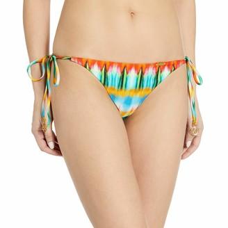 Luli Fama Women's Ocean Whispers Seamless Brazilian Tie Side Ruched Back Bikini Bottom