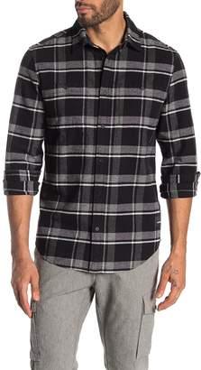 Calvin Klein Front Button Plaid Print Flannel
