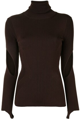 Thierry Mugler Stirrup-Cuff Cut-Out Top