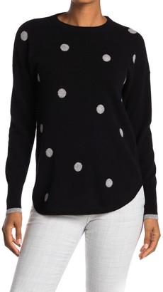Catherine Malandrino Polka Dot Cashmere Pullover Sweater