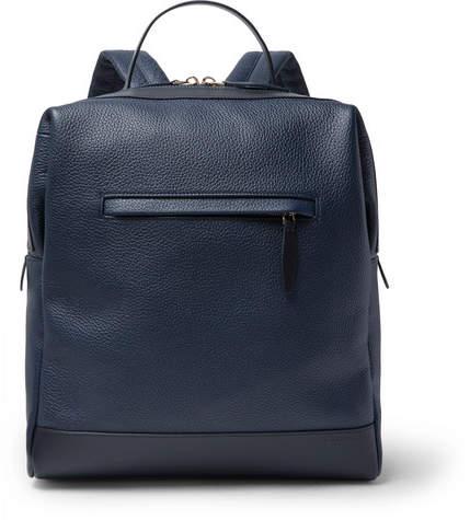 Globe-trotter Propeller Pebble-Grain Leather Backpack