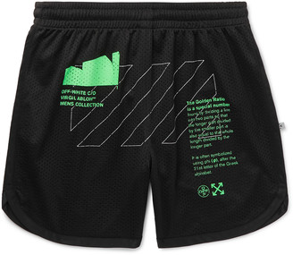 Off-White Printed Mesh Shorts