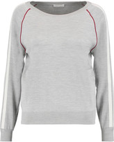 Chloé Paneled silk-blend jersey sweatshirt