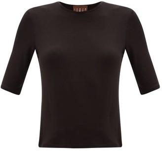 Albus Lumen - Lumen Round-neck Jersey T-shirt - Womens - Black