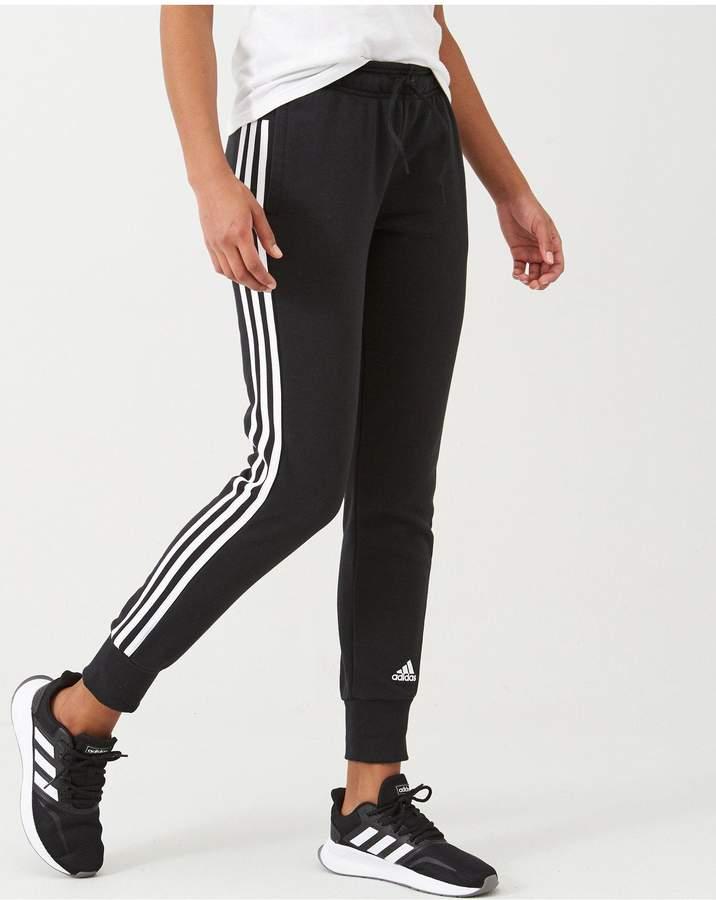 Adidas 3 Stripe Black Pants ShopStyle UK