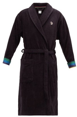Paul Smith Zebra Terry-cloth Cotton Towel Robe - Black