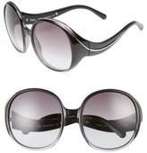 Chloé Women's Nelli 59Mm Gradient Lens Round Sunglasses - Gradient Black