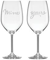 Kate Spade Two Of A Kind 'Mine & Yours' Wine Glasses, Set of 2
