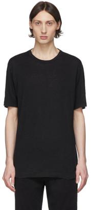 Ermenegildo Zegna Black Linen T-Shirt