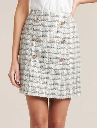 Forever New Jackson Boucle Mini Skirt - CREAM BOUCLE - 12
