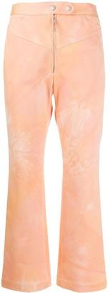 Ellery Tie Dye Print Cropped Trousers