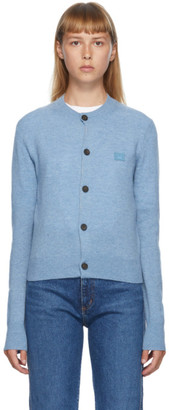 Acne Studios Blue Patch Crewneck Cardigan