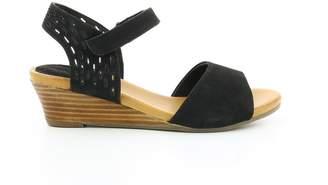 Hush Puppies Liane Nubuck Leather Wedge Sandals