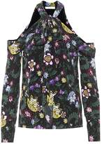 Erdem Aila floral-printed silk blouse