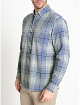 John Lewis Large Scale Check Shirt, Blue