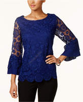 Charter Club Petite Lace Top, Created for Macy's