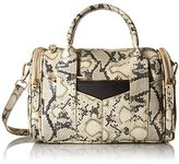 Steve Madden Bpully Mini Barrel Satchel Shoulder Handbag Natural Multi