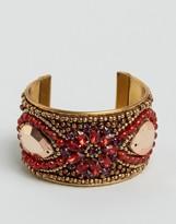 Asos Embellished Stone Cuff Bracelet