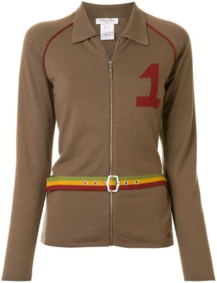 Christian Dior pre-owned Rasta zipped jacket