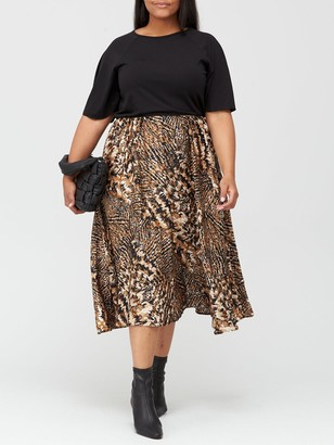 AX Paris Curve Two In One Dress - Print