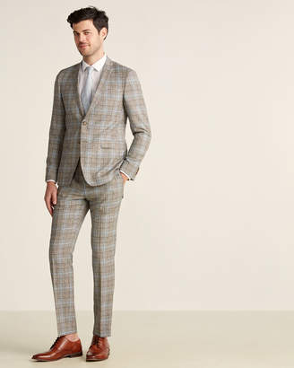 Sand Two-Piece Plaid Wool Suit