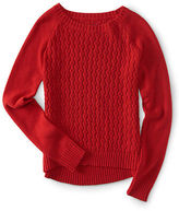 Aeropostale Womens Textured Crew-Neck Sweater
