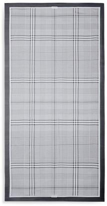 Burberry Monochrome Check Silk Chiffon Scarf