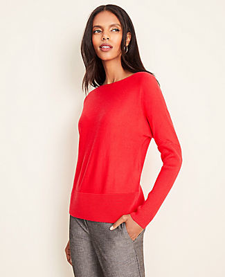 Ann Taylor Ribbed Boatneck Sweater
