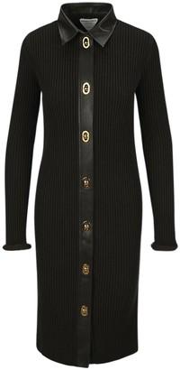 Bottega Veneta Buttoned Ribbed Fitted Dress