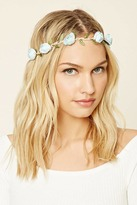 Forever 21 Faux Suede Rose Headwrap